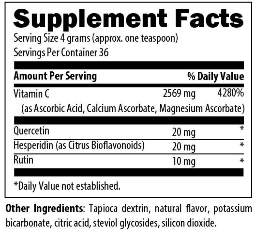 C++ Fizz Supplement Facts