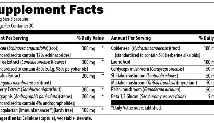 Herb Immune Supplement Facts